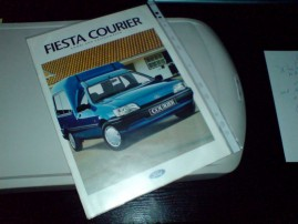Prospekt Ford Fiesta Currier (Mk3) na skanerze