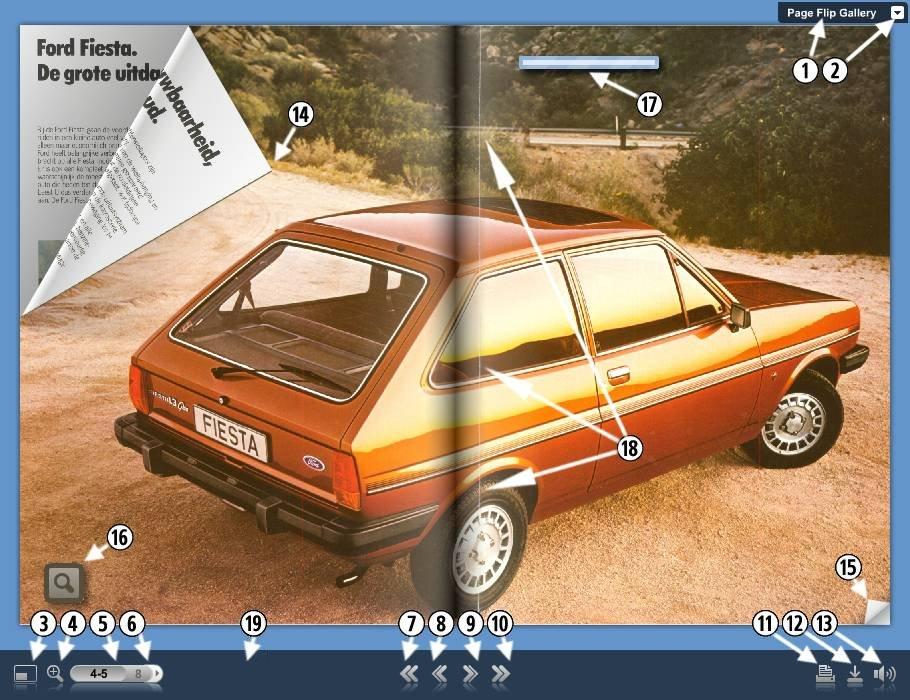 Przykładowy widok apletu FlippingBook Gallery